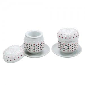Gukhwamun白瓷镂空设置一组英达