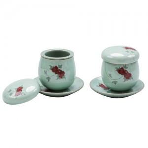 袋镶嵌青瓷茶具