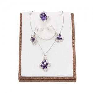 蝴蝶紫晶(耳环,项链,戒指)