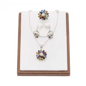 花紫晶(耳环,项链)