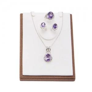 结项链紫水晶(耳环,项链,戒指)