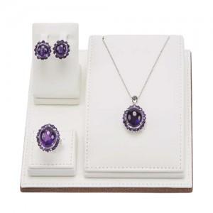 紫晶滴水线(耳环,项链,戒指)