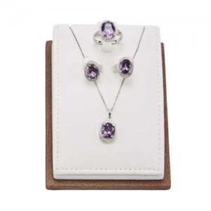 紫晶到线(耳环,项链)