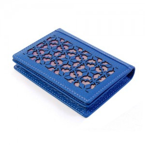 牡丹名片夹门(蓝色)