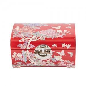 投掷动作首饰盒牡丹(红,黑)