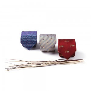 出行图丝绸领带