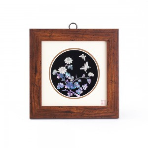 母珍珠方形的镜架