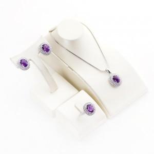 紫水晶项链(可以设置)
