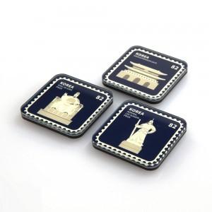 韩国地标邮票磁铁