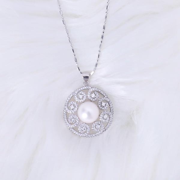 银珍珠项链(20毫米)