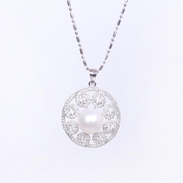 银珍珠项链(30毫米)