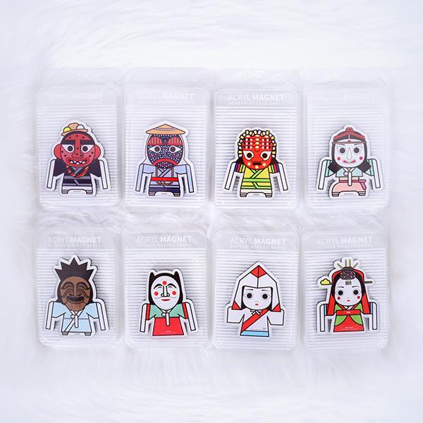 韩国蒙面磁铁